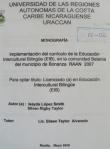 Implementación del currículo de la Educación Intercultural Bilingüe (EIB), en la comunidad Betania del municipio de Bonanza RAAN 2007